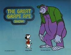 The Grape Ape Show Old School Cartoons, Cartoons Love, Classic Cartoons, Funny Cartoons, Cartoon Monkey, Cartoon Kids, Old Tv Shows, Kids Shows, Strong Guy