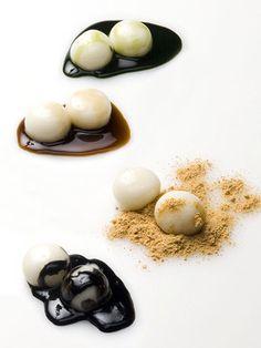 Japanese shiratama dumpling sweets