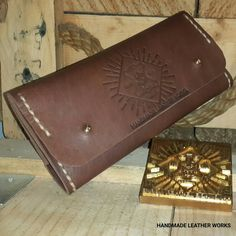 HANDMADE LEATHER WORKS  HANDMADE LEATHER TOBACCO POUCH