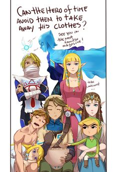 """( Part 6 )The Legend of Zelda: Ocarina of Time, The Legend of Zelda: The Wind Waker, The Legend of Zelda: Twilight Princess (Super Smash Bros. Brawl), The Legend of Zelda: Skyward Sword, and Hyrule Warriors / Link, Princess Zelda, Zelda, Fi, Navi, and Toon Link / """"I think I'm posting this a bit late but ….I don't..."""" - Work by Hunter x Hunter ♥ The Legend of Zelda (6)"""