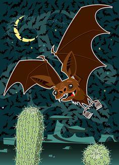 Bat vector illustration designed by Paul Howalt for Kono magazine. #TactixCreative #bat #graphicdesign