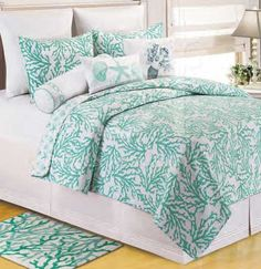 Cora Seafoam Quilt Bedding by C & F Enterprises.
