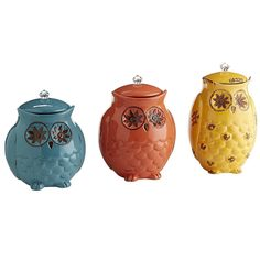 Starry Night Owl Canisters