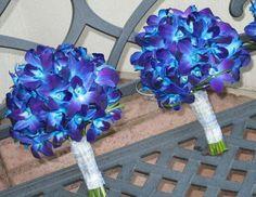 Blue/Purple Dendrobium Orchids Wedding Bouquets