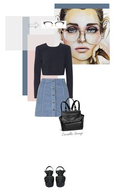 """""""Rae"""" by trendsetter-98 ❤ liked on Polyvore featuring DKNY, Topshop, Chanel, Thom Browne, Givenchy, vintage, topshop, dkny, jellysandals and channel"""