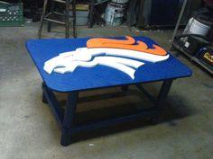 Broncos coffee table