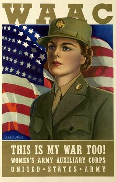US Army WAACs Advert Print World War II by BloominLuvly on Etsy, $9.95