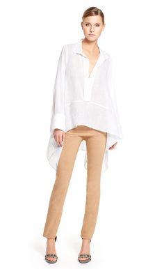 Donna Karan Spring 2014 big white shirt