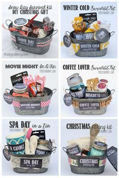 Homemade gift buckets
