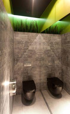 Hot Paper restaurant by Wamhouse, Tczew Poland hotels and restaurants Wc Design, Toilet Design, Commercial Toilet, Commercial Design, Man Cave Bathroom, Bathroom Toilets, Bathroom Interior, Modern Bathroom, Wc Public