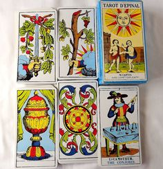 78 tarot fortune telling cards - the Epinal Tarot, with instruction booklet