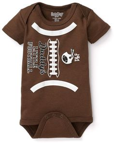 What a catch! Click above to buy this adorable football onesie.