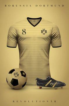 Borussia Dormound - Camisetas vintage de gigantes de Europa