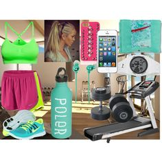 In the gym, created by layonne on Polyvore