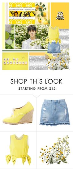 """""""Hufflepuff Aesthetic"""" by missmodel13 ❤ liked on Polyvore featuring Whiteley, Christian Louboutin, Steve J & Yoni P and MSGM"""