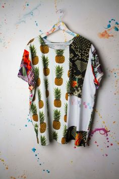 These Mixed-Print Tees Are Seriously Rad, Also Recycled #refinery29  http://www.refinery29.com/emg-initiative#slide4  Fabrics from Ashley Williams and Kit Neale.