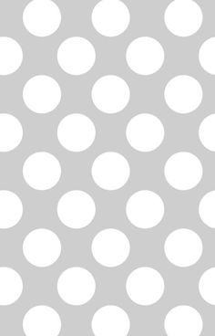 Big polka dots, white,grey,modern,trendy,pattern,fun,happy