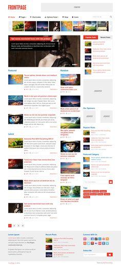 FrontPage #WordPress #Themes  #WPTheme #WebDesign #Responsive #Magazine #Blog | #WPThemeHouse