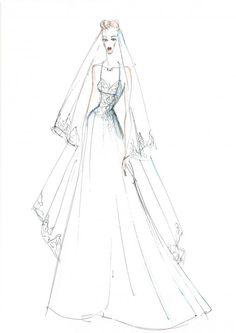 Sketch Sketch Fashion, Study Ideas, Vectors, Wedding Gowns, Pencil, Graphics, Digital, Heart, Drawings