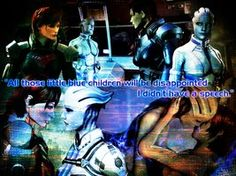 FemShep and Liara: Little Blue Children Wallpaper by suicidebyinsecticide