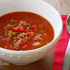 Chopped, Cropped, and Clipped: Stuffed Pepper Soup
