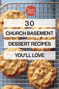 Southern Recipes 30 Church Basement Dessert Recipes You'll Love Retro Recipes, Bakery Recipes, Vintage Recipes, Cookbook Recipes, Cooking Recipes, Cooking Bacon, Cooking Videos, Cooking Tips, Desserts For A Crowd