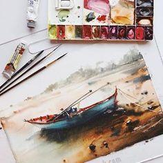 "12.7k Likes, 75 Comments - Watercolor illustrations 🎨 (@watercolor.illustrations) on Instagram: ""🎨 Watercolorist: @poli.bright.art  #waterblog #акварель #aquarelle #painting #drawing #art #artist…"""