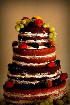 Naked Cake- Flour de Lis custom cakes and treats-Oklahoma I www.facebook.com/flourdelisandrea