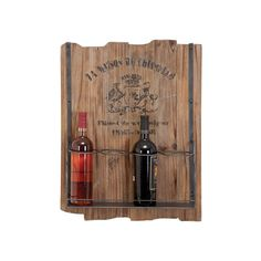 French Theme Distressed Wood Hanging Wine Rack | Overstock.com Shopping - Great Deals on Accent Pieces