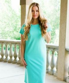 This new Curvy Hepburn Dress in Mint is the perfect addition to this weeks New Arrivals!!! Order now and receive FREE shipping!! || Bella Ella Boutique