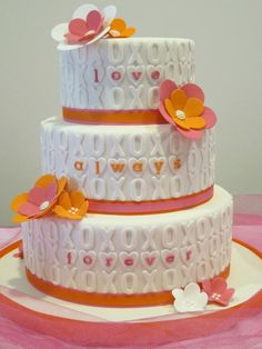 "I would use my Cricut cartridge, ""Flower Shoppe"" to make fondant flowers instead of paper ones . . . Am"