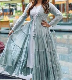 Women S Fashion Top Brands Pakistani Dresses Casual, Indian Gowns Dresses, Pakistani Dress Design, Frock Fashion, Fashion Dresses, Fashion Top, Indian Attire, Indian Outfits, Indian Maternity Wear