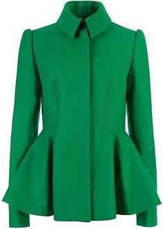 Ted Baker Sollel Short Peplum Coat in Green - Lyst Ted Baker Shorts, Peplum Coat, Coats For Women, Clothes For Women, Ball Gowns Prom, Blazers, Passion For Fashion, Formal, My Style