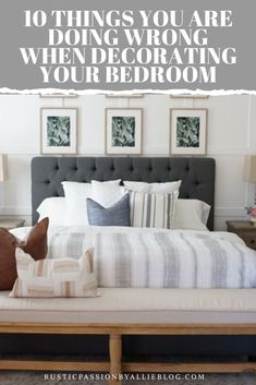 These 5 habits will help you keep spotless and organized room. You will look like a professional while decorating with these master bedroom hacks. Whether you are looking for farmhouse or… Dream Master Bedroom, Farmhouse Master Bedroom, Bedroom Wall, Farmhouse Bed, Bedroom Decor, Master Bedrooms, Wall Decor, Cozy Bedroom, Vintage Farmhouse
