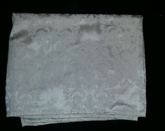 $49.96 or best offer Ivory Damask Tablecloth Rectangle 51x68 Floral Vintage