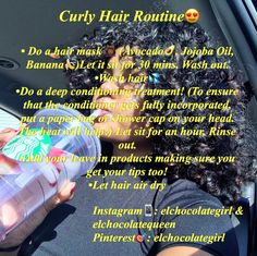 Interesting Hair Care Tips You Should Use Curly Hair Routine, Curly Hair Tips, Curly Hair Care, Curly Hair Styles, 3c Hair, Curly Girl, Natural Hair Care Tips, Natural Hair Styles, Deep Conditioning Treatment