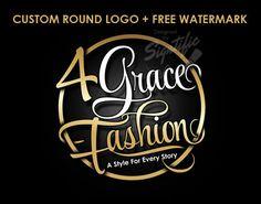 Fashion logo badge FREE watermark custom elegant gold by Signtific