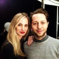 Look at this sweet pair backstage at Theory. #nyfw