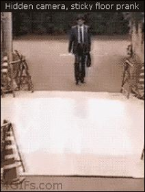 The Web Babbler: The Sticky Floor Prank....