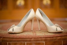 Simple and pretty wedding heels
