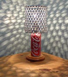 Coca Cola Soda Can Lamp with Pull Tab Lampshade by LicenseToCraft, - The Coca Cola Lover's Essential