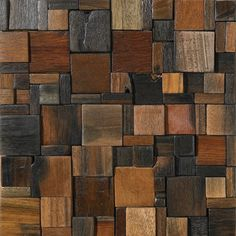 Finished Product - Reclaimed Wood Tile - Hydrus  http://www.naturalmosaictiles.com/products-page/reclaimed-wood-tiles/hydrus-2/