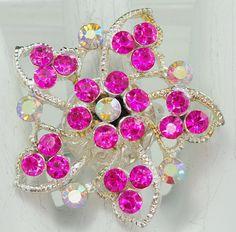Magenta Flower Ring/Aurora