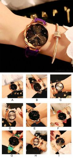 Cheap Leisure Rhinestone Belt Waterproof Shining Ladies Quartz Watch For Big Sale! Simple Watches, Cute Watches, Retro Watches, Cheap Watches, Vintage Watches, Watches For Men, Women's Watches, Popular Watches, Ladies Watches