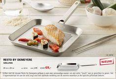 Extra 'touch' geven aan jouw gerechten? De nieuwe Resto by Demeyere grillpan biedt uitkomst. Nu in de aanbieding :-)