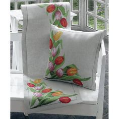 """Tulips Runner Counted Cross Stitch Kit-14""""X44"""""""