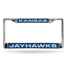 Kansas Jayhawks NCAA Laser Chrome Frame