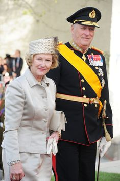 King Harald V Of Norway  - The Wedding Of Prince Guillaume Of Luxembourg & Stephanie de Lannoy - Official Ceremony