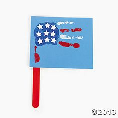 Handprint Patriotic Flag Craft Kit