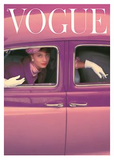 Probably the most famous Vogue cover. The 1957 Autumn Fushia Cover